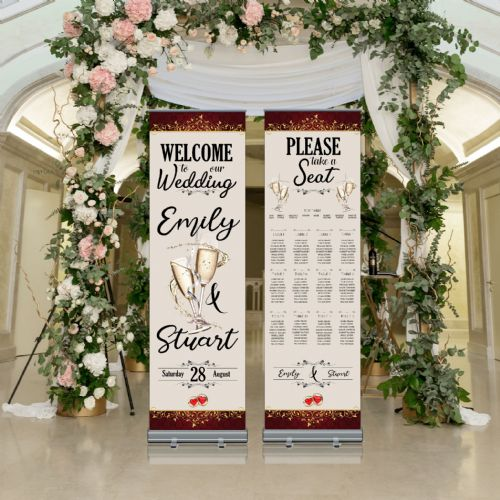 Wedding Roller Banner N12 - Welcome to our Wedding / Table Seating Plan